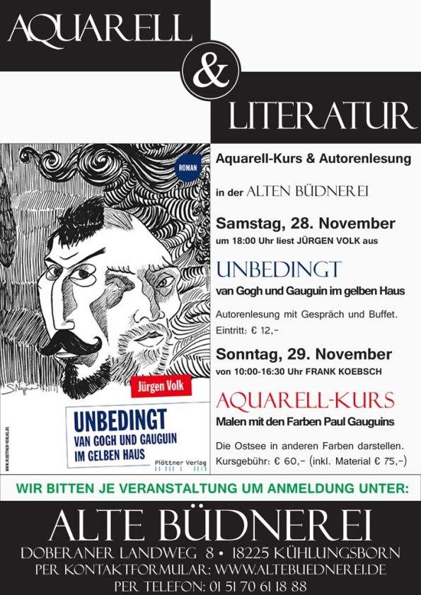 Aquarell & Literatur - eine Veranstaltung der alten Büdnerei