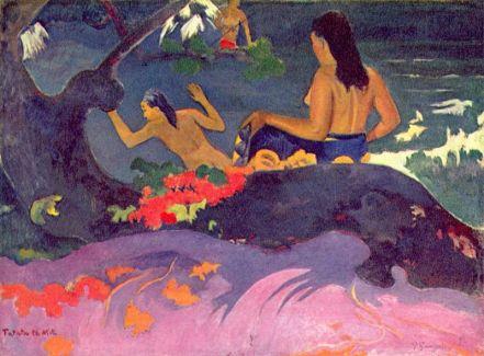 By the Sea - Paul Gauguin - 1892
