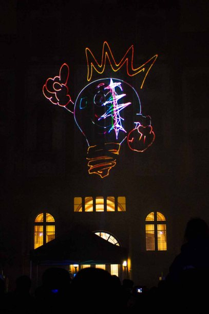 Lasershow bei der 14. Rostocker Lichtwoche (c) Frank Koebsch