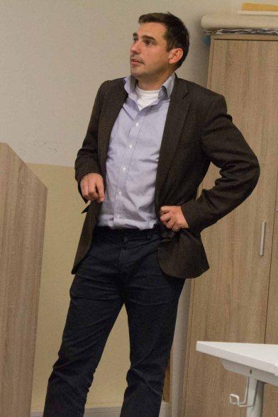 René Gottschalk - Leiter Besucherservice & Marketing Zoo Rostock beim Vortrag (c) Frank Koebsch (1)