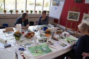 Schnappschüsse aus dem Aquarellkurs Gartenvögel (c) Frank Koebsch (4)