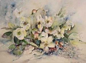 Christrosen (c) Aquarell von Hanka Koebsch