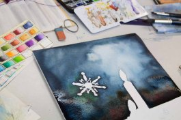 Eiskristalle können ein Weihnachtsaquarell beleben (c) Frank Koebsch (1)