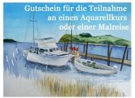 Gutschein für die Teilnahme an einem Aquarellkurs oder einer Malreise von Frank Koebsch