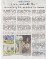 Kinder malen Ihr Dorf Groß Lüsewitz OstseeZeitung 2015 11 25