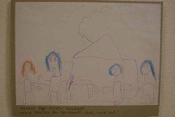 Meine Familie, der Pferdestall, Leah und ich - Hannah Hoppe hat Ihr Dorf gemalt (c) Frank Koebsch