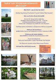 Posterentwurf Malwettbewerb - Mein Dorf (c) Frank Koebsch
