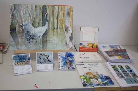 Schnappschüsse aus dem Aquarellkurs Faszination Kraniche VHS Rostock (c) Frank Koebsch (1)