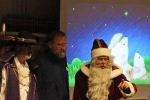 Zoodirektor Udo Nagel und der Weihnachtsmann bei der Lesung - Fiete der Abenteurer (c) Frank Koebsch