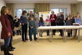 Bei der Preisverleihung in der Aktion Kinder malen ihr Dorf (c) Frank Koebsch (2)