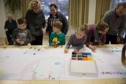 Kinder beim Malen in Groß Lüsewitz (c) Frank Koebsch (3)