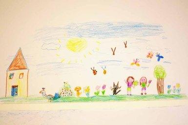 Kinder malen ihr Dorf in Groß Lüsewittz (c) Frank Koebsch (2)