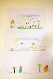 Kinder malen ihr Dorf in Groß Lüsewittz (c) Frank Koebsch (3)