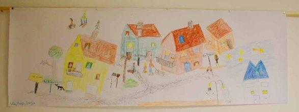 Kinder malen ihr Dorf in Groß Lüsewittz (c) Frank Koebsch (5)
