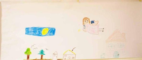 Kinder malen ihr Dorf in Groß Lüsewittz (c) Frank Koebsch (9)