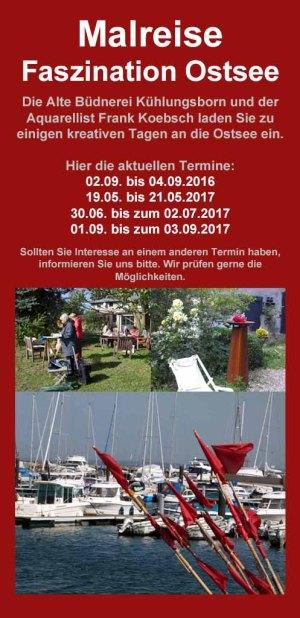 Malreise Faszination Ostsee in der Alten Büdnerei Kühlungsborn