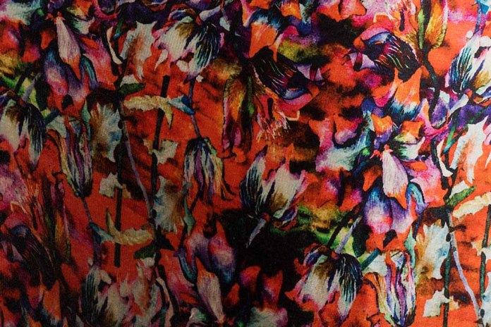 Stoffe aus dem Aquarell Blüten des Sebnitzer Flussteufels von Frank Koebsch © Bernd Hiepe - Fotocredits (2)