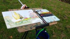 Ein Herbstaquarell entsteht im Park von Putbus (c) Frank Koebsch (2)