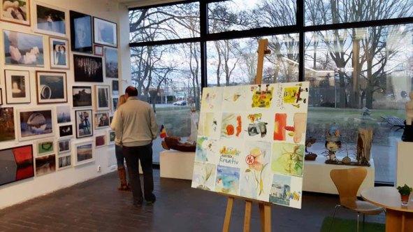 Ergebnisse vom Malen bei Rostock kreativ in der Kunsthalle Rostock (c) Frank Koebsch