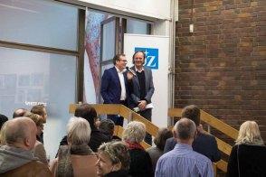 Jörg-Uwe Neumann und Andreas Ebel eröffnen die Ausstellung Rostock Kreativ 2016 © Frank Koebsch (3)