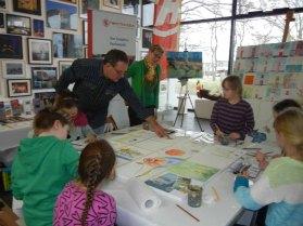 Kinder malen mit Frank Koebsch bei Rostock kreativ (c) Annett Grabow (2)