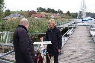 Malen im Hafen von Seedorf (c) Frank Koebsch (7)