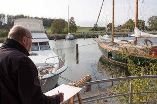 Malen im Hafen von Seedorf (c) Frank Koebsch (9)