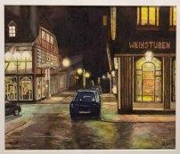 Straßenansicht (c) Aquarell von Viola Güde