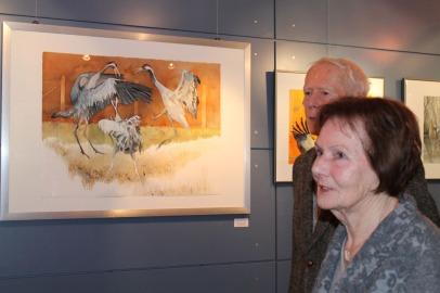 Besucher der Ausstellung von Hanka u Frank Koebsch im Graal Müritz ((c) Andrea Conteduca (1)