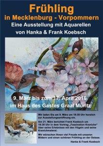 Frühling im Mecklenburg Vorpommern eine Ausstellung von Hanka u Frank Koebsch in Graal Müritz