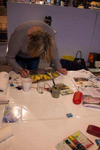 Frühlingsblumen – Aquarellworkshop bei Heinr. Hünicke Rostock (c) Frank Koebsch (3)