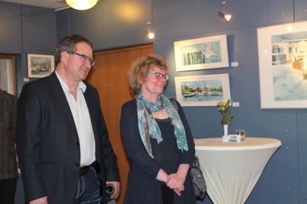 Hanka und Frank Koebsch bei der Eröffnung ihrer Ausstellung im Haus des Gastes Graal Müritz (c) Andrea Conteduca (1)