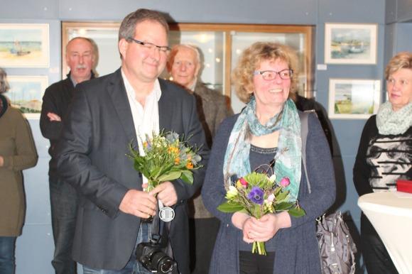 Hanka und Frank Koebsch bei der Eröffnung ihrer Ausstellung im Haus des Gastes Graal Müritz (c) Andrea Conteduca (2)