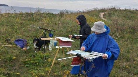 Malen auf der Steilküste beim Schafsberg bei Middelhagen (c) Frank Koebsch (3)