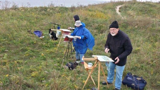 Malen auf der Steilküste beim Schafsberg bei Middelhagen (c) Frank Koebsch (6)