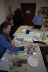 Spaß beim Malen von Frühlingsaquarellen an der VHS Schwerin (c) Frank Koebsch (2)