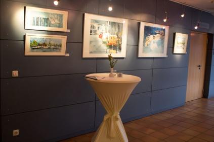 Unsere Aquarelle in der Ausstellung in Graal Müritz (c) Frank Koebsch (1)