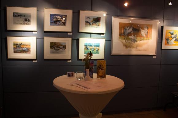 Unsere Aquarelle in der Ausstellung in Graal Müritz (c) Frank Koebsch (2)