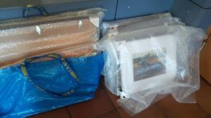 Verpackung für den Transport unserer Bilder (c) Frank Koebsch
