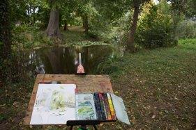Ein Herbstaquarell entsteht in Middelhagen (c) Frank Koebsch