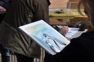 Malen bei den Pinguienen des Rostocker Zoos (c) Maria Zepplin (4)