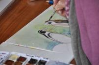 Pinguine malen im Kursraum des Rostocker Zoo´s (c) Maria Zepplin (2)