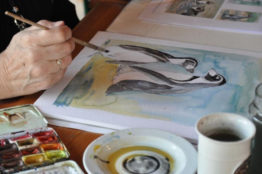 Pinguine malen im Kursraum des Rostocker Zoo´s (c) Maria Zepplin (3)