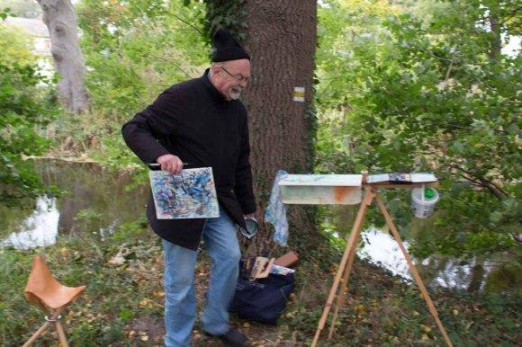 Wenn es kalt wird, beim Malen (c) Frank Koebsch