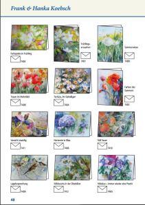 Aquarelle von Hanka & FRank Koebsch als Kunstkarten im Frühlings- und Sommerprogramm 2016 des Präsenz Verlages
