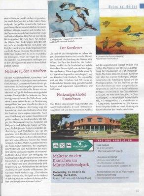 Kraniche im Müritz -Nationalpark - Mein Kreativ - Atelier Nr 83 S 53