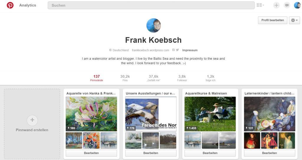Mein Pinterest Account - FRank Koebsch