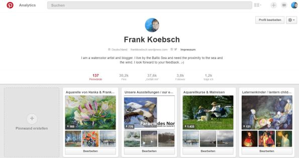 Mein Pinterest Account - FRank Koebsch