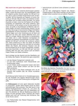 Auf der Suche nach dem richtigen Aquarellpapier - Ein Artikel von Frank Koebsch in der Palette 4 - 2016 S 43