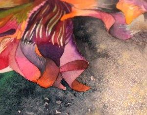 Das Spiel von Lasuren und Verläufen im Aquarell der Teufelsblume (c) Frank Koebsch